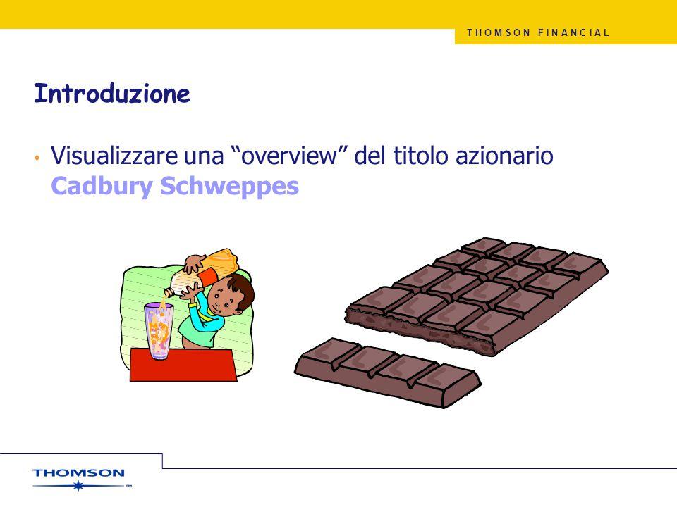 Introduzione Visualizzare una overview del titolo azionario Cadbury Schweppes.