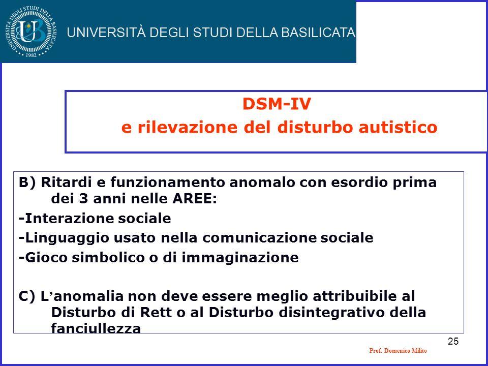 e rilevazione del disturbo autistico