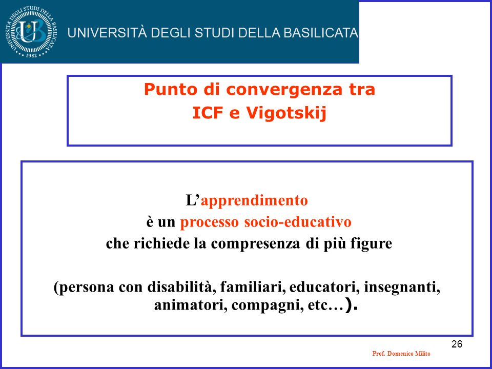 Punto di convergenza tra ICF e Vigotskij