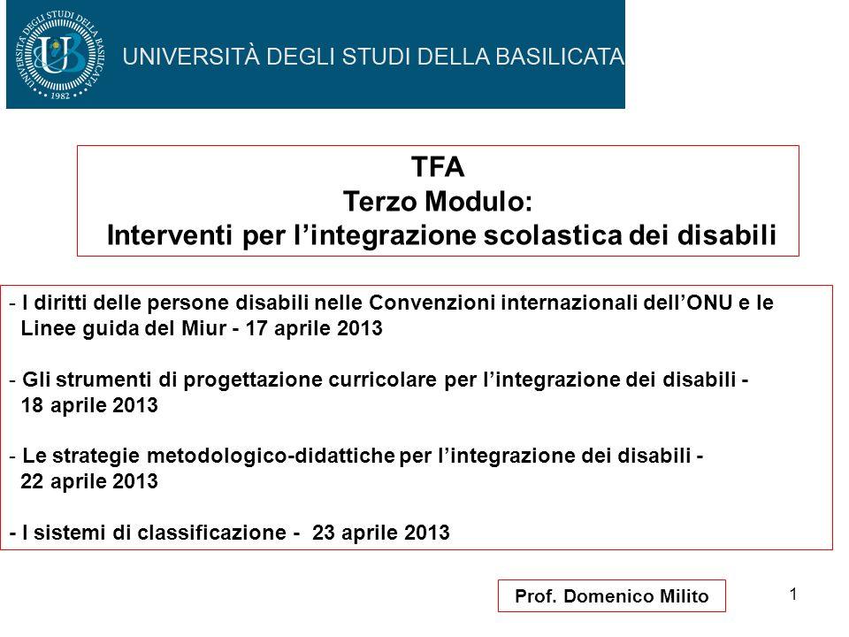 Interventi per l'integrazione scolastica dei disabili