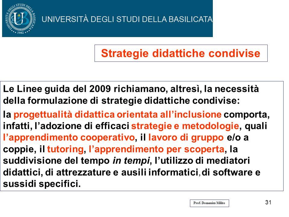 Strategie didattiche condivise