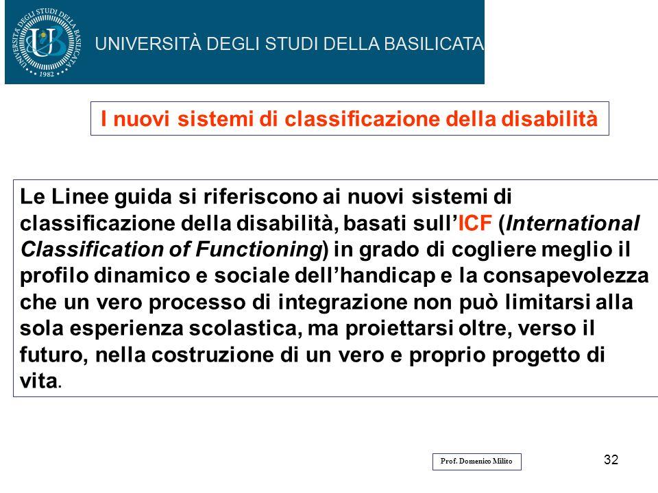 I nuovi sistemi di classificazione della disabilità