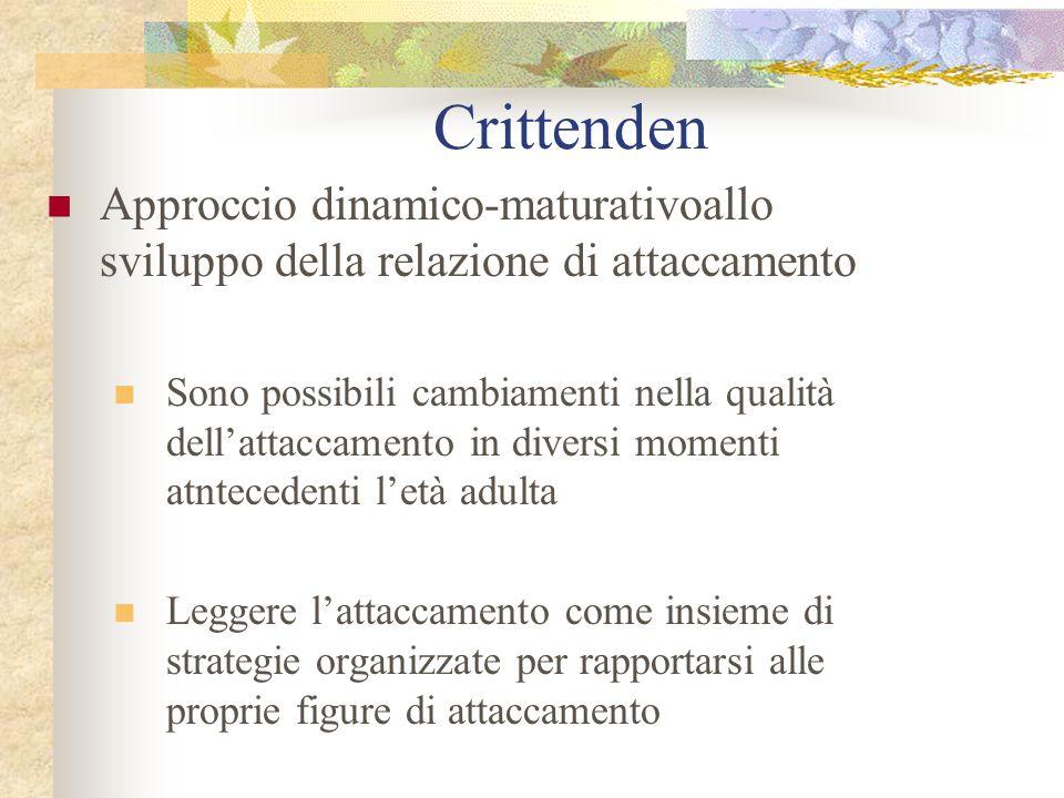Crittenden Approccio dinamico-maturativoallo sviluppo della relazione di attaccamento.