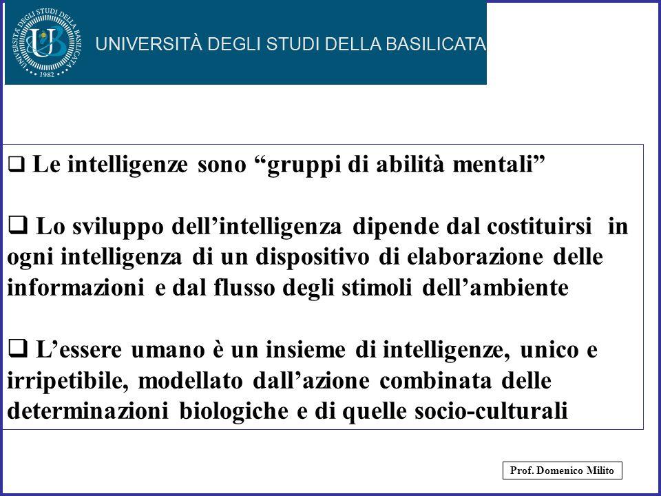 Le intelligenze sono gruppi di abilità mentali