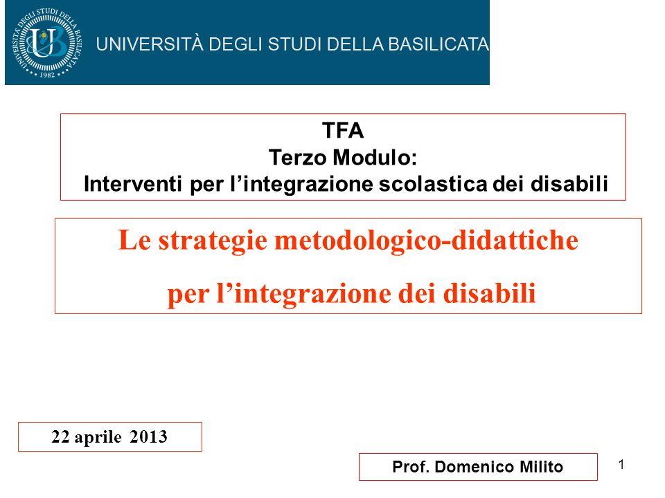 Le strategie metodologico-didattiche