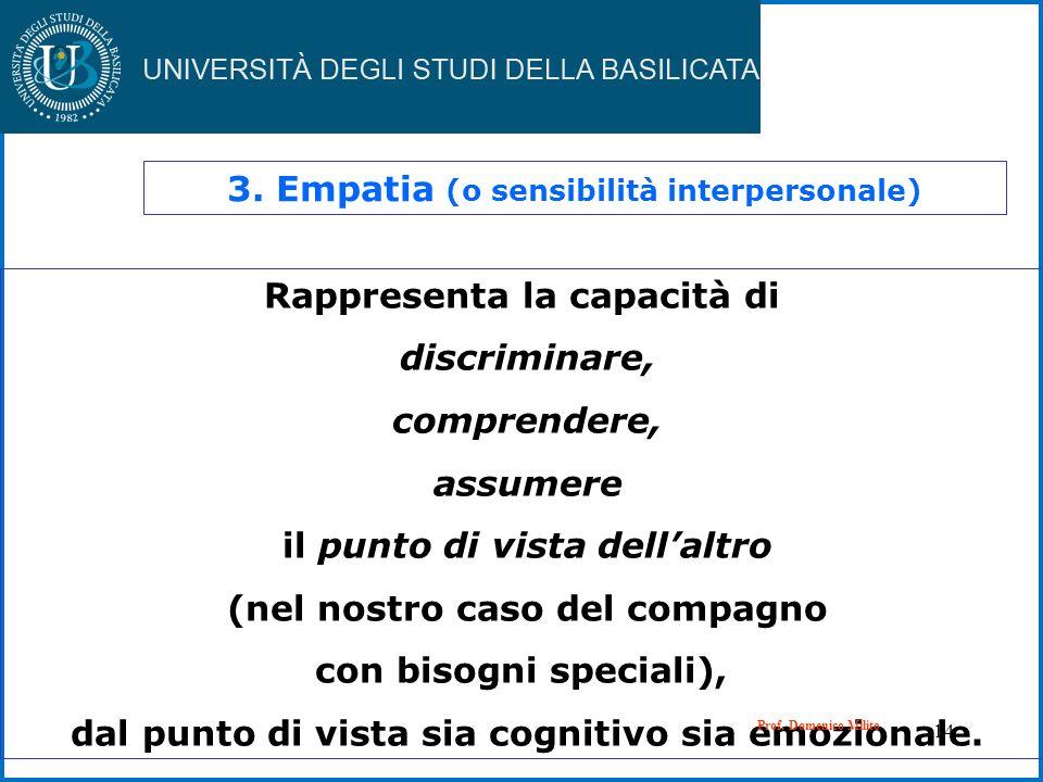 3. Empatia (o sensibilità interpersonale)