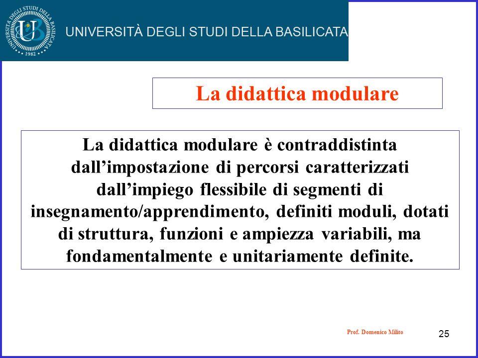 La didattica modulare
