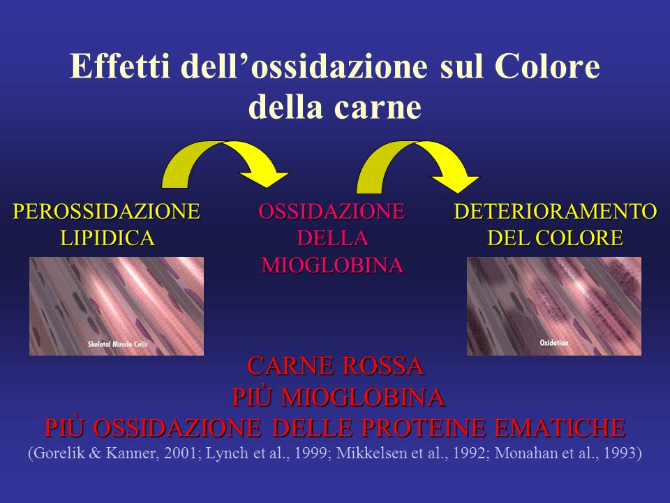 Effetti dell'ossidazione sul Colore della carne