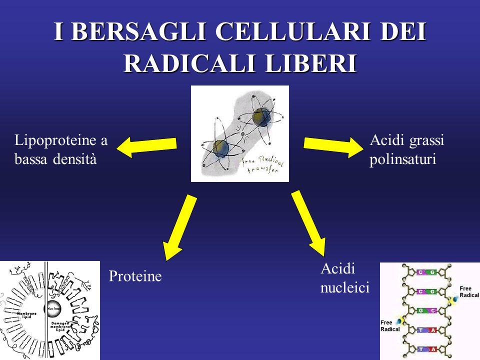 I BERSAGLI CELLULARI DEI RADICALI LIBERI