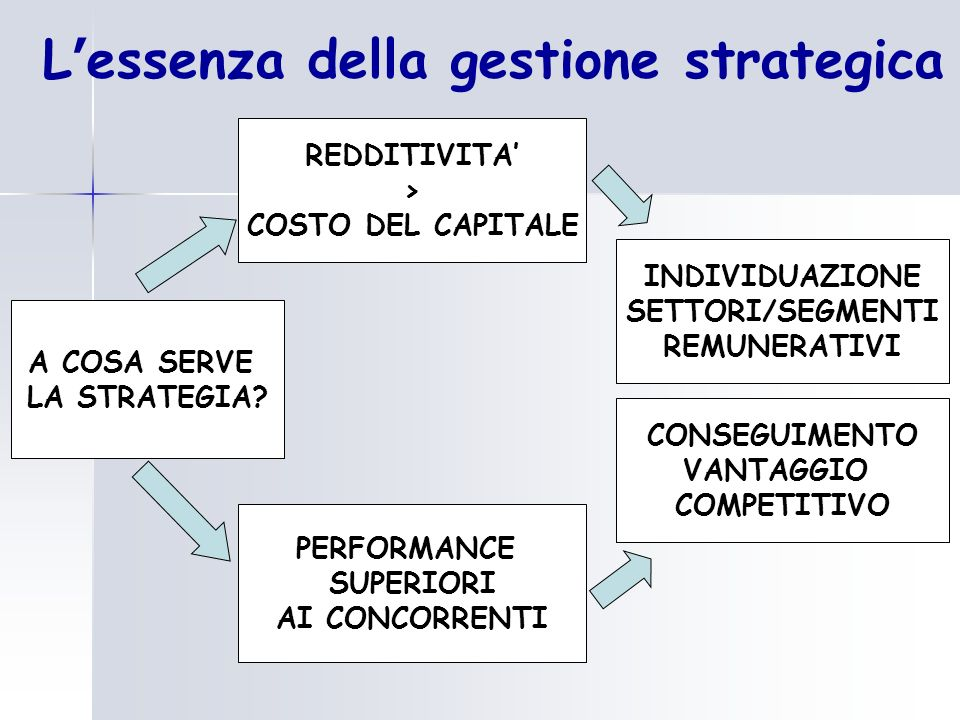 L'essenza della gestione strategica
