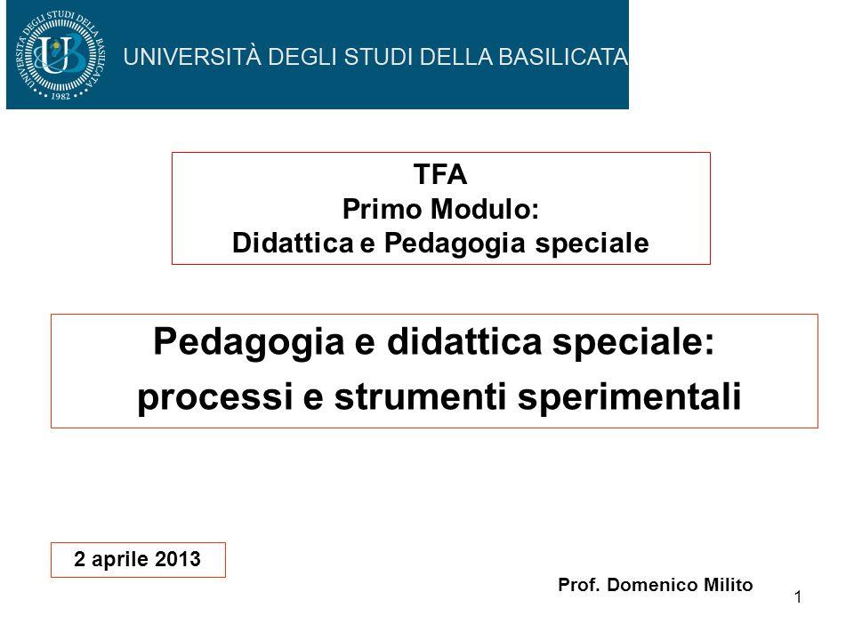 Pedagogia e didattica speciale: processi e strumenti sperimentali