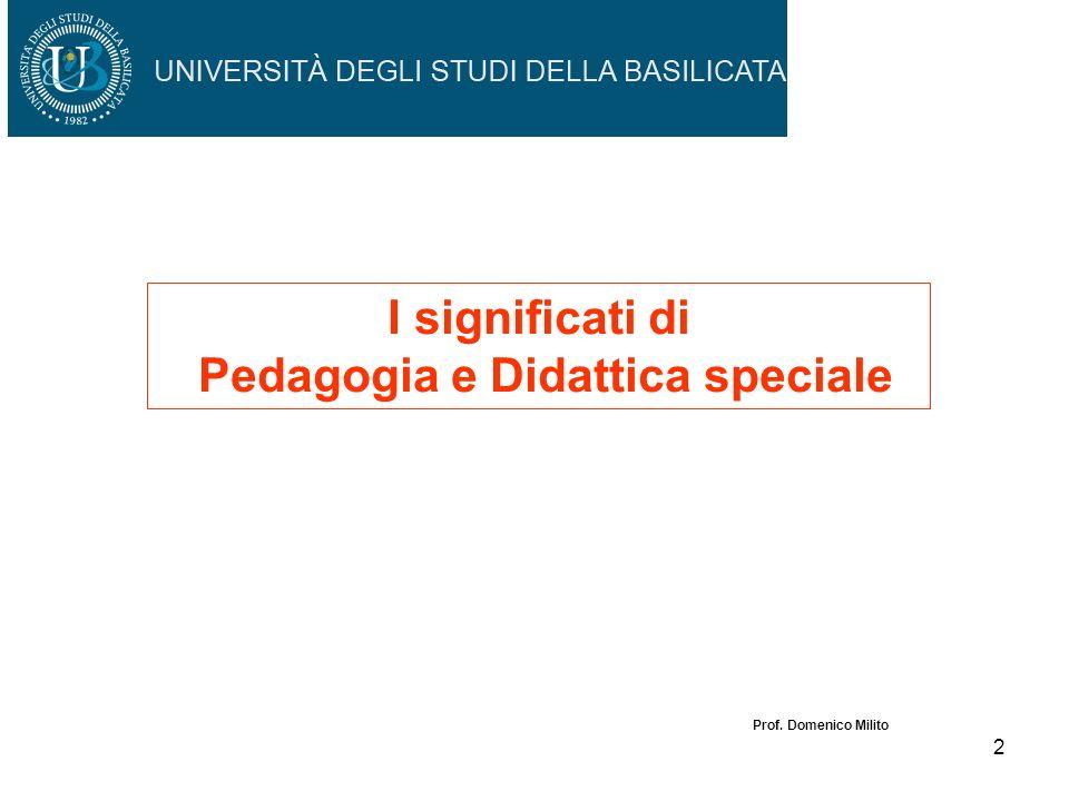 I significati di Pedagogia e Didattica speciale