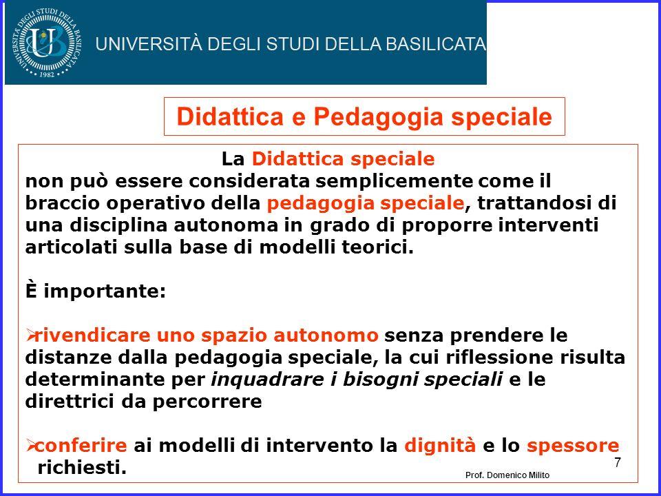 Didattica e Pedagogia speciale