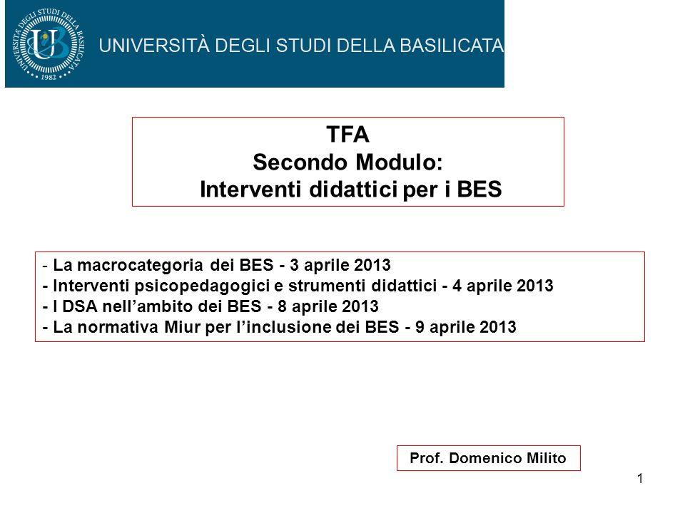 Interventi didattici per i BES