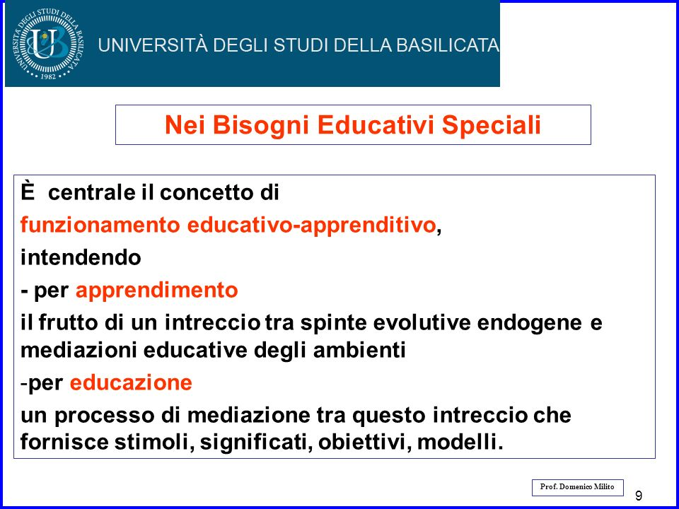 Nei Bisogni Educativi Speciali