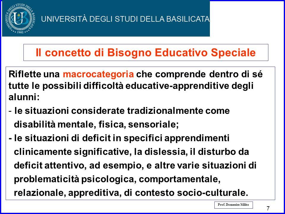 Il concetto di Bisogno Educativo Speciale
