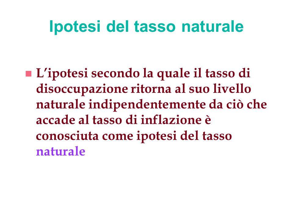 Ipotesi del tasso naturale