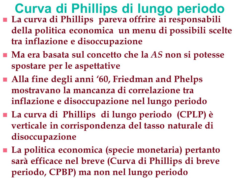 Curva di Phillips di lungo periodo