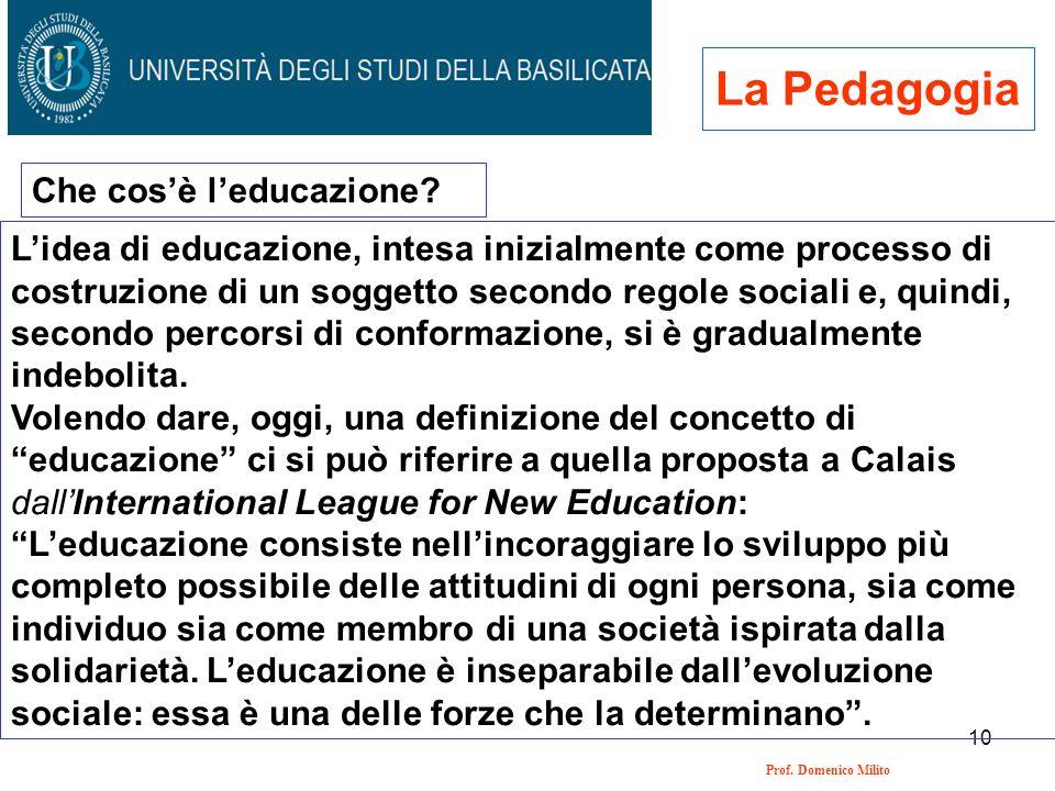 La Pedagogia Che cos'è l'educazione