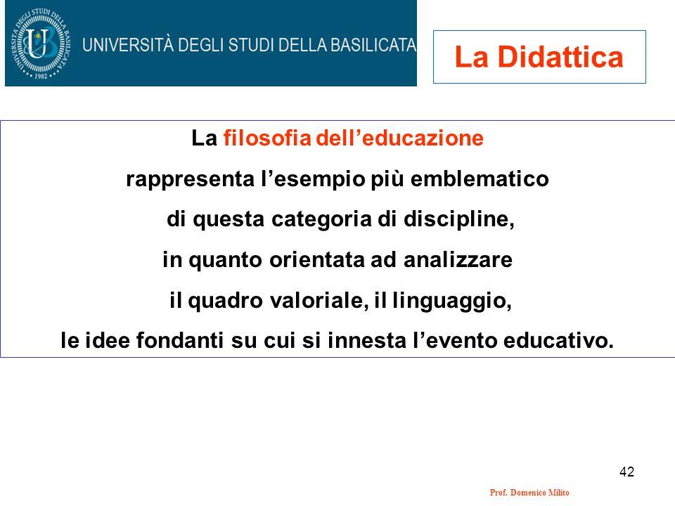 La Didattica La filosofia dell'educazione