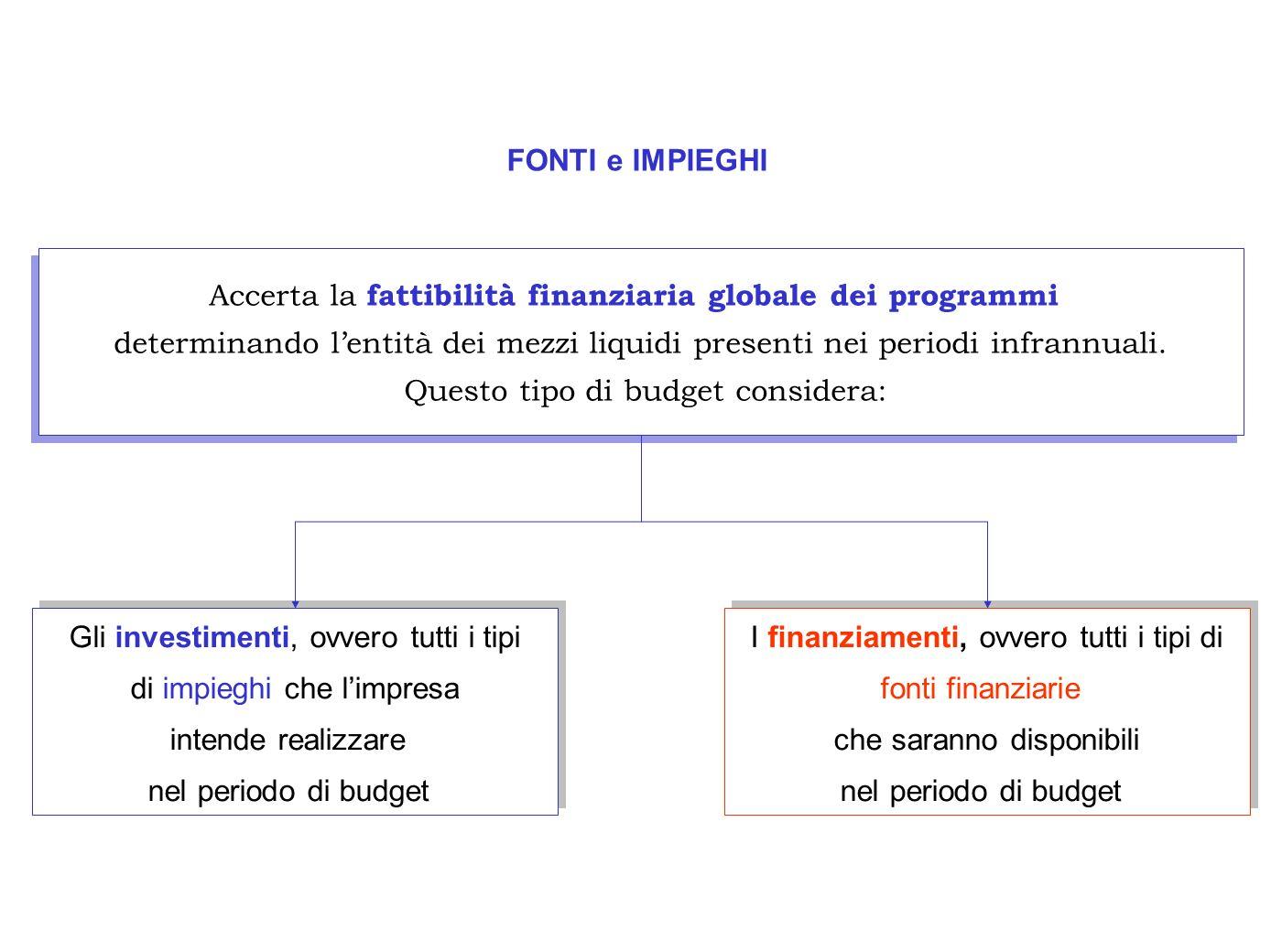 Accerta la fattibilità finanziaria globale dei programmi