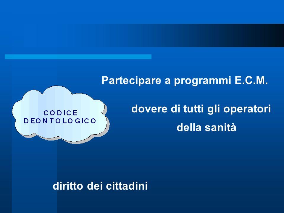 Partecipare a programmi E.C.M.