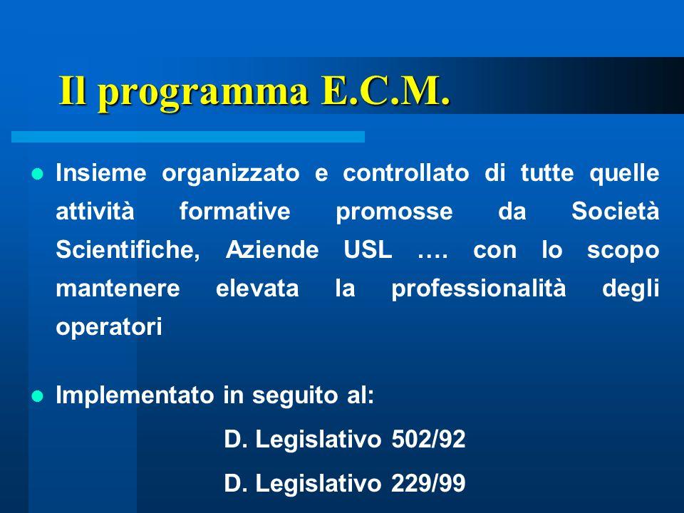 Il programma E.C.M.