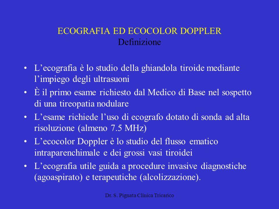 ECOGRAFIA ED ECOCOLOR DOPPLER Definizione