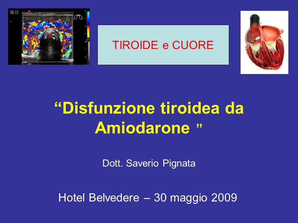 Disfunzione tiroidea da Amiodarone Dott. Saverio Pignata