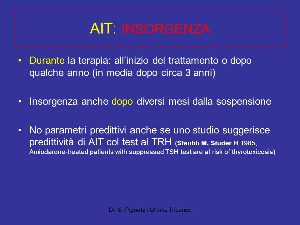 Dr. S. Pignata - Clinica Tricarico
