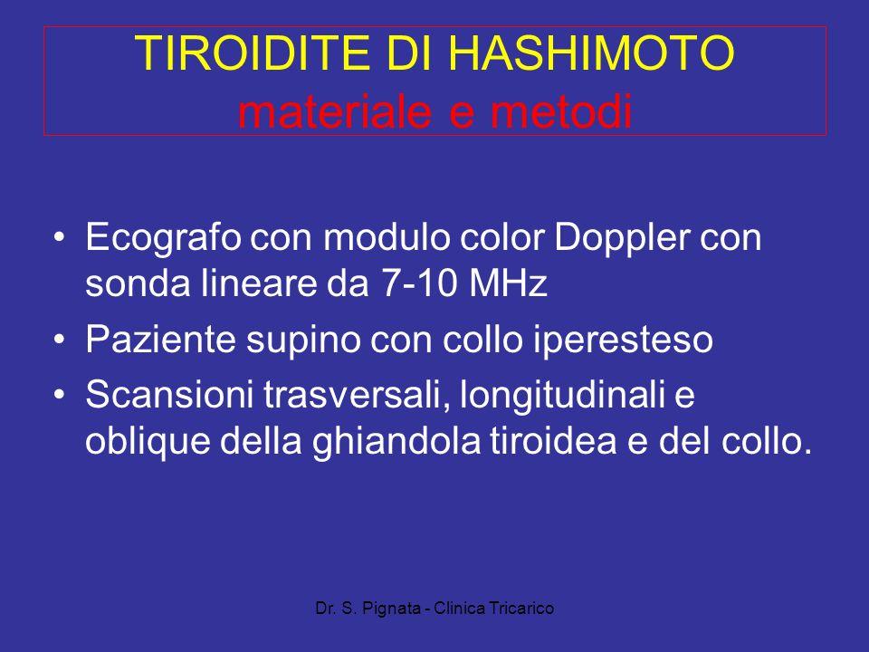 TIROIDITE DI HASHIMOTO materiale e metodi
