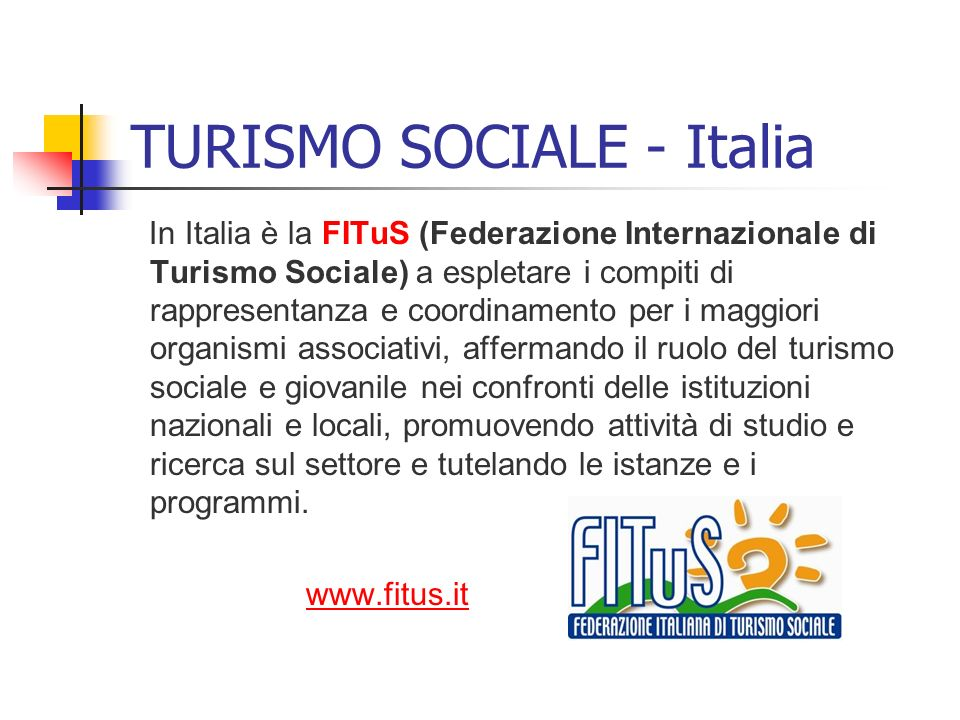 TURISMO SOCIALE - Italia