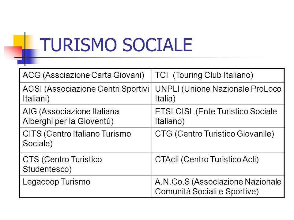TURISMO SOCIALE ACG (Assciazione Carta Giovani)