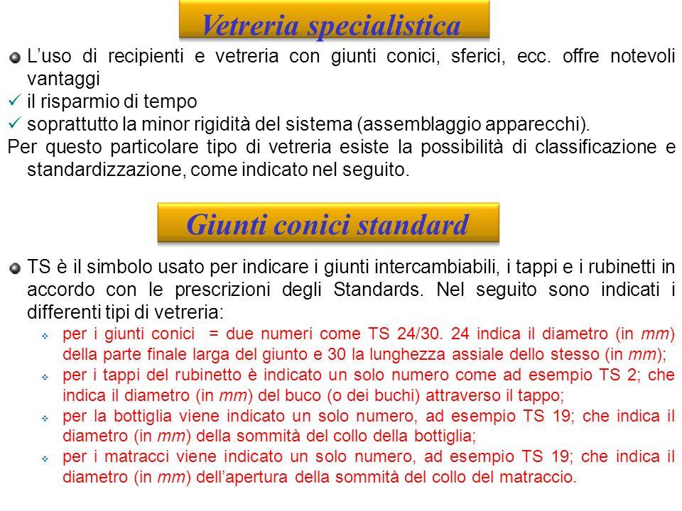 Vetreria specialistica Giunti conici standard