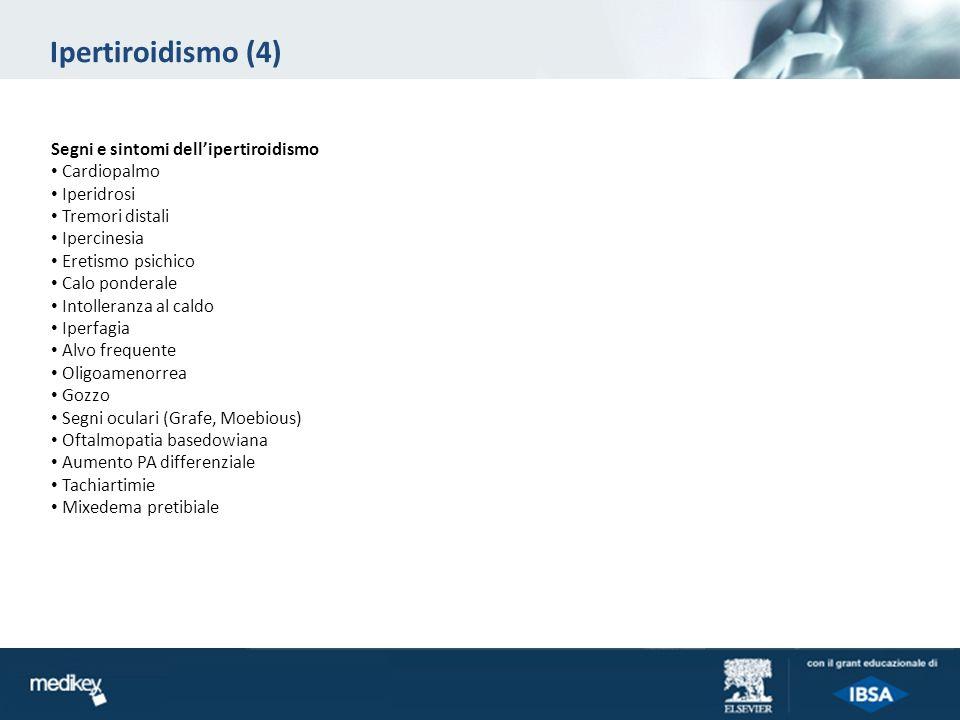 Ipertiroidismo (4) Segni e sintomi dell'ipertiroidismo Cardiopalmo