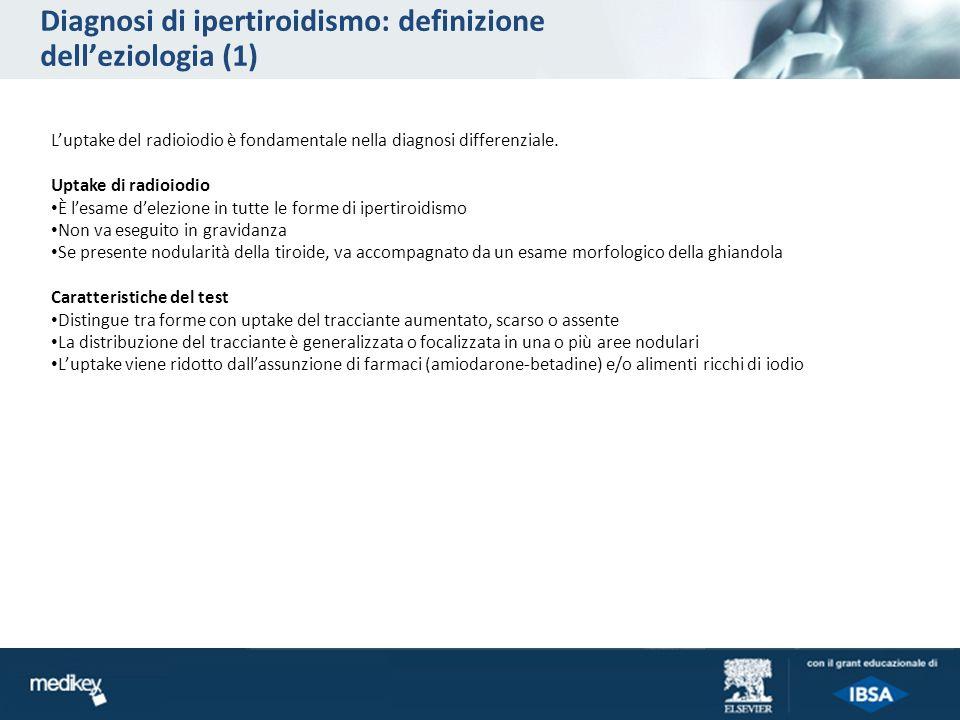 Diagnosi di ipertiroidismo: definizione dell'eziologia (1)