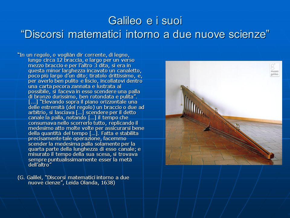 Galileo e i suoi Discorsi matematici intorno a due nuove scienze