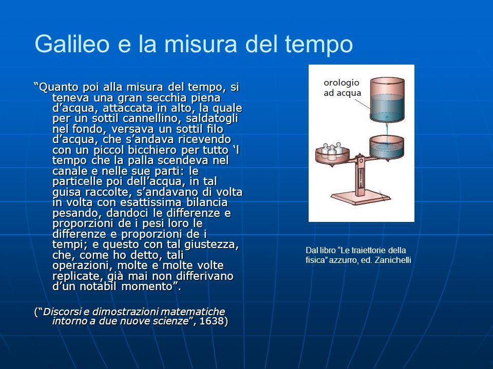 Galileo e la misura del tempo