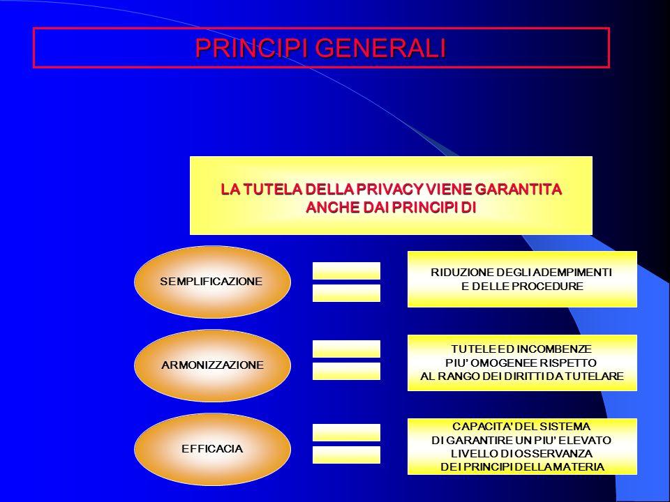 LA TUTELA DELLA PRIVACY VIENE GARANTITA