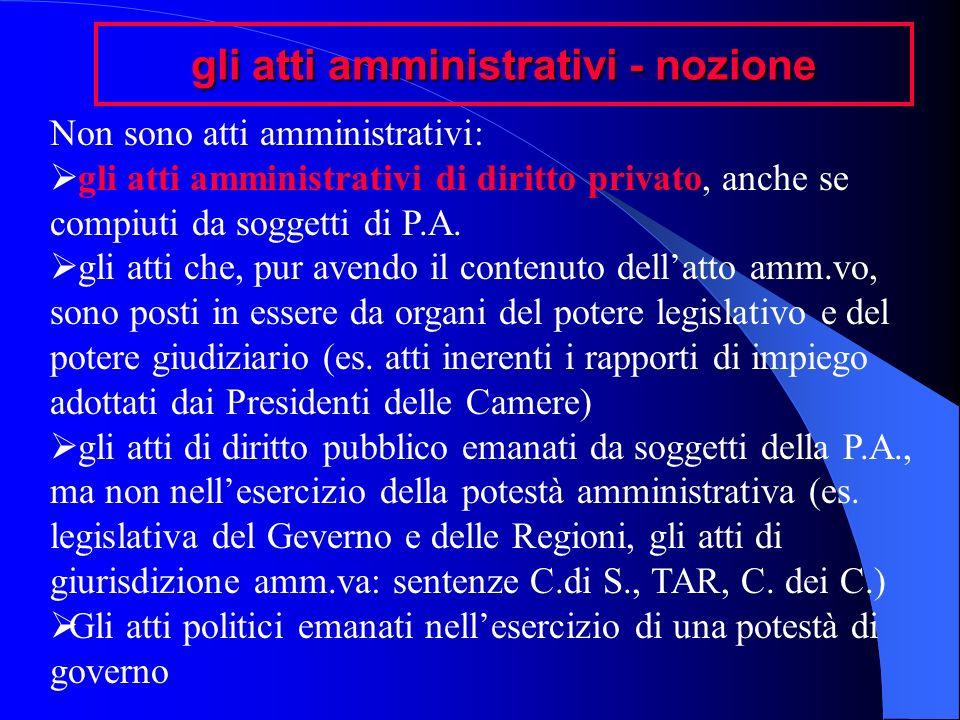 gli atti amministrativi - nozione