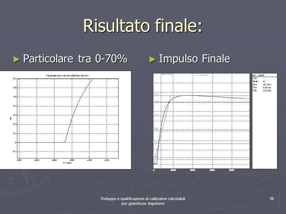Risultato finale: Particolare tra 0-70% Impulso Finale