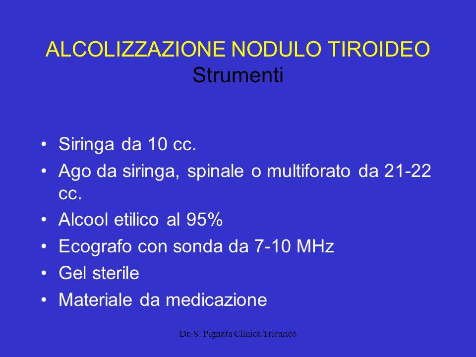 ALCOLIZZAZIONE NODULO TIROIDEO Strumenti