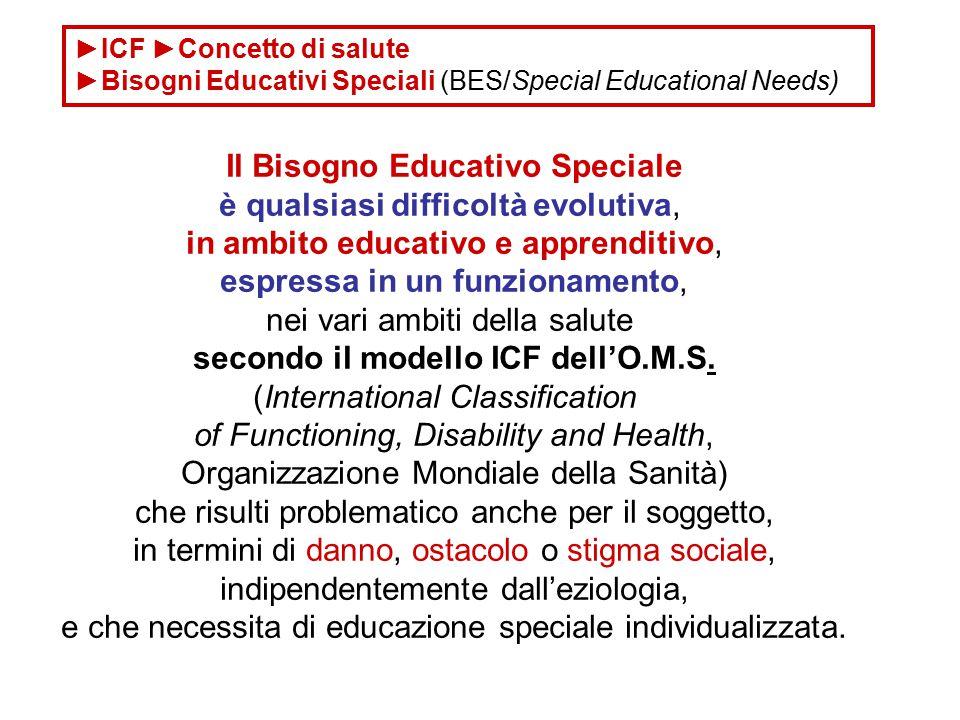 Il Bisogno Educativo Speciale secondo il modello ICF dell'O.M.S.