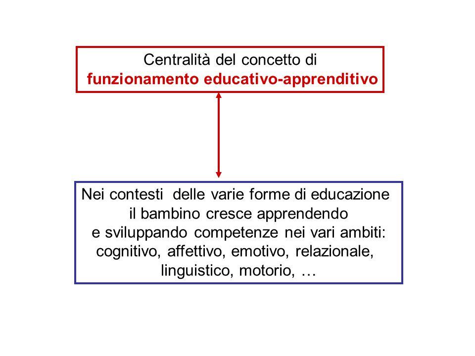 Centralità del concetto di funzionamento educativo-apprenditivo