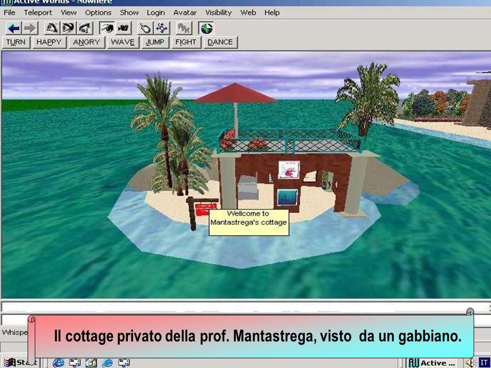Il cottage privato della prof. Mantastrega, visto da un gabbiano.