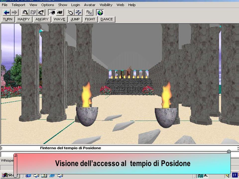 Visione dell'accesso al tempio di Posidone