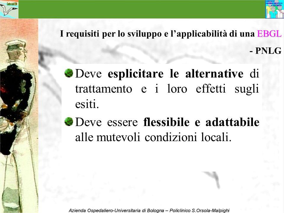 Deve essere flessibile e adattabile alle mutevoli condizioni locali.