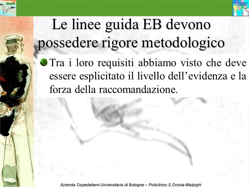 Le linee guida EB devono possedere rigore metodologico