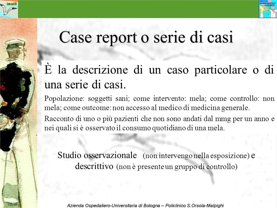 Case report o serie di casi