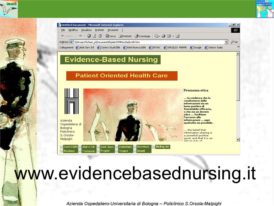 www.evidencebasednursing.it